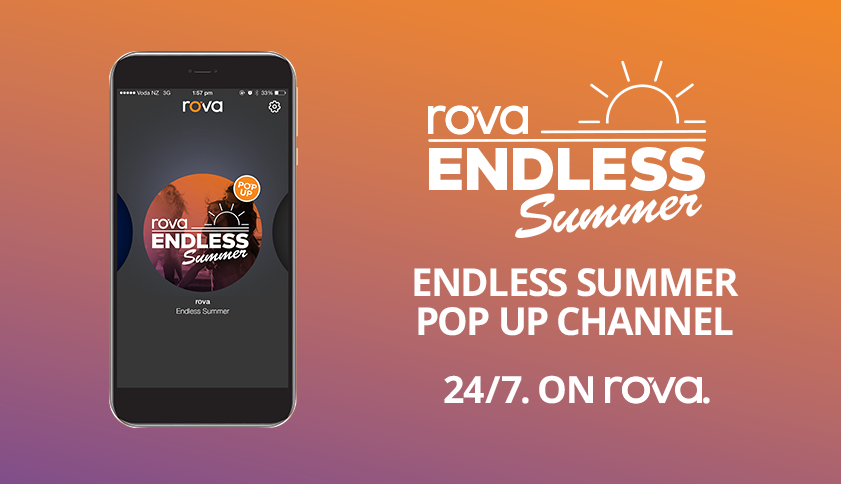 rova Endless Summer pop up channel now available 24/7 on rova.